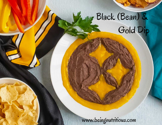 Black bean and mango dip.