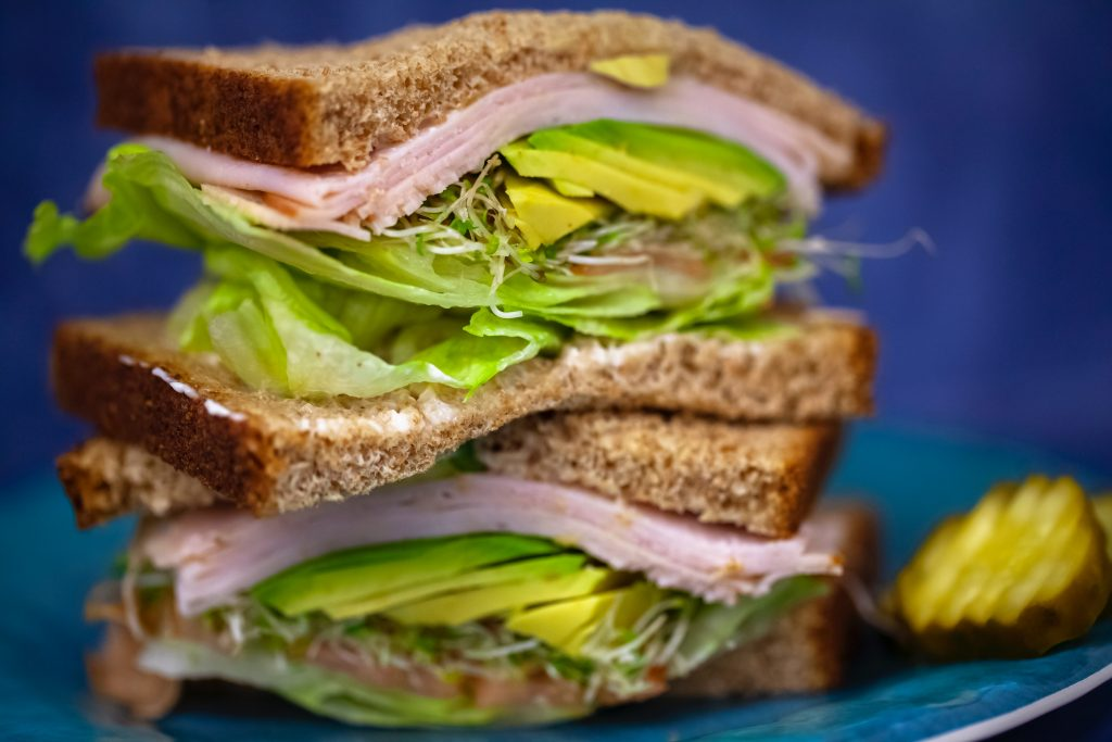 Sandwich with deli turkey