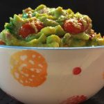 Blistered Guacamole in a bowl