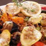 Wheat Berry Salad close up
