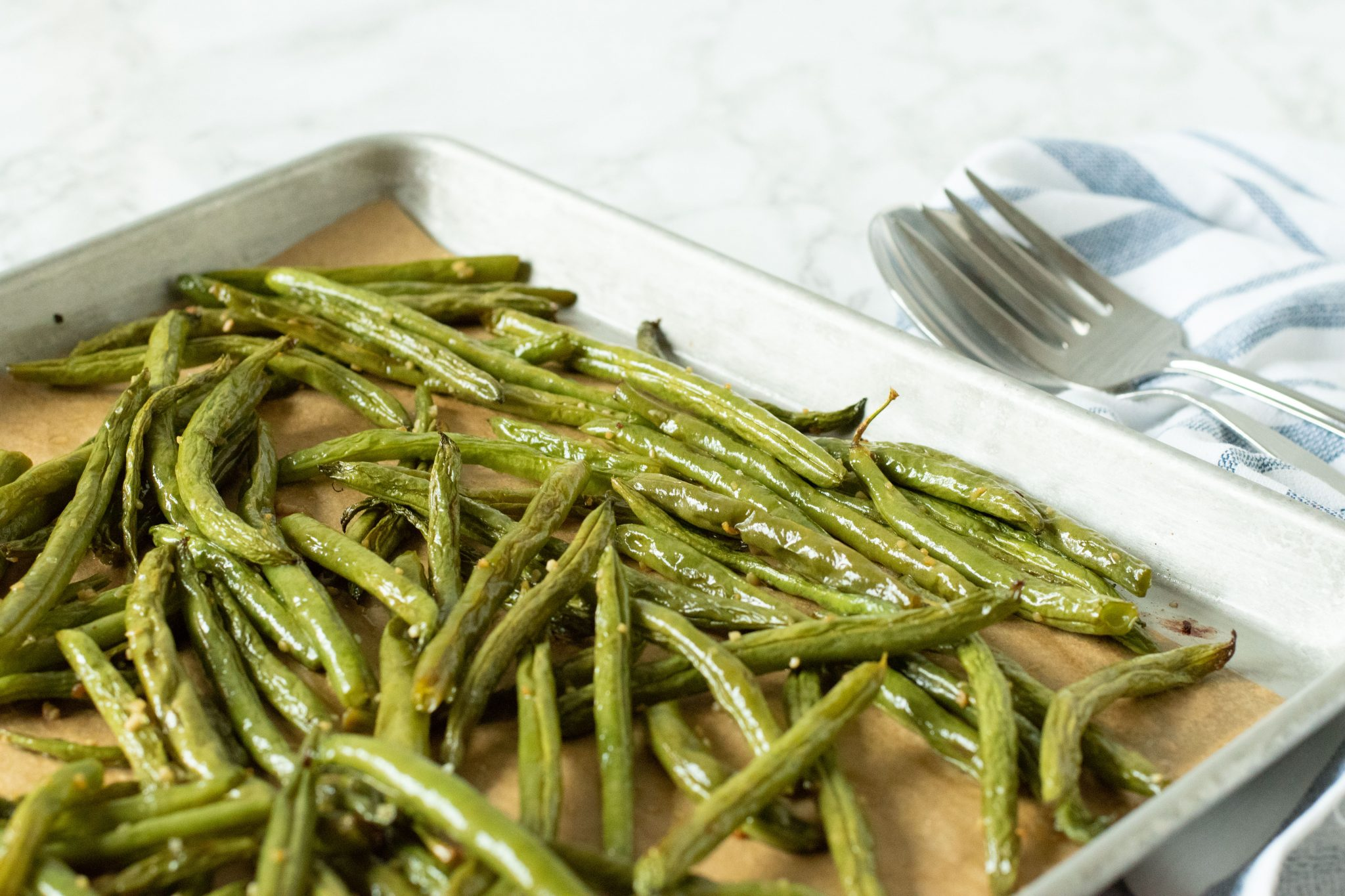 Garlic Roasted Green Beans 4