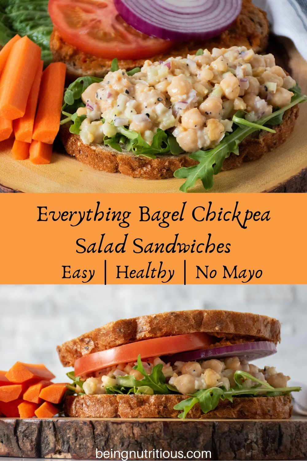 Everything Bagel Chickpea Salad Sandwiches